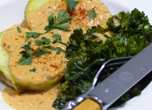 "Vegan gluten-free low-carb, low calorie, ""cheese"" sauce"