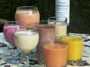 Omega-3 flax linseed smoothie
