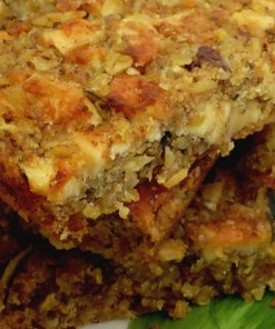courgette and apple flapjack