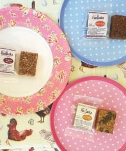 Luxury handmade Gluten-free Dairy-free sugar-free vegan Flaxjacks