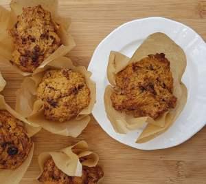Gluten-free oat linseed sweet potato muffin recipe