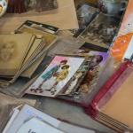 Selection of vintage items and antiques at Mercat Gòtic flea market