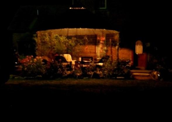 Myra's Cornzebo at night