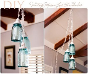 Mason jar lights made by Elisa McLaughlin