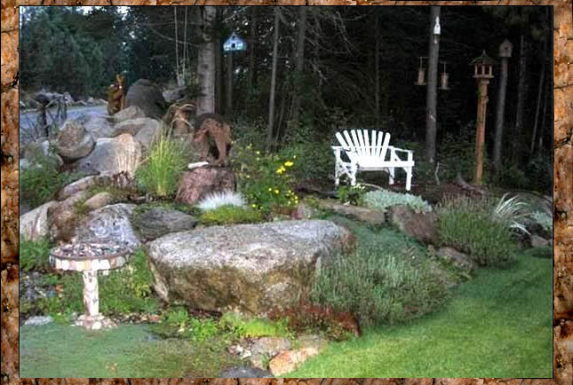 Kirk Willis's natural rock garden in Washington