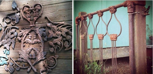 These decorative metal embellishments on the left were captured by Cindy Barton
