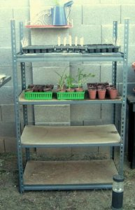 Brian Stephan's recycled seed rack