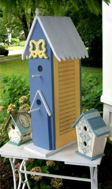 Funky Fusions Garden Art's birdhouse