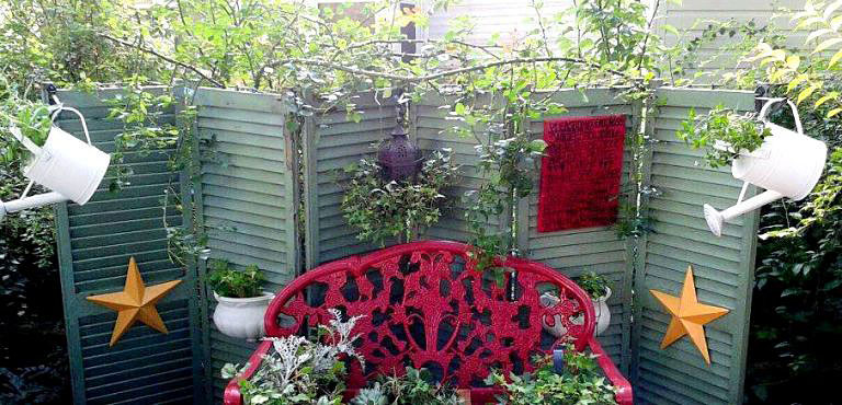 Upcycling old shutters in the garden   Flea Market Gardening
