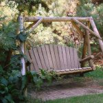 Jeanne's log swing.