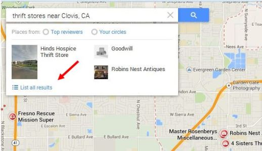 Google maps for thrift shops!