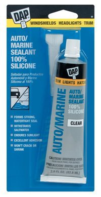 Dap auto and marine silicone , in clear