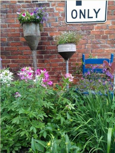 Myra's funnel planters