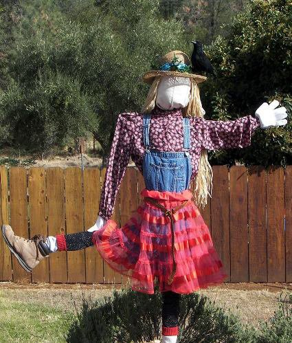 B J Miller's Nanny, the danc'n scarecrow