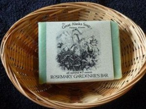 Alaskan rosemary gardener's bar soap