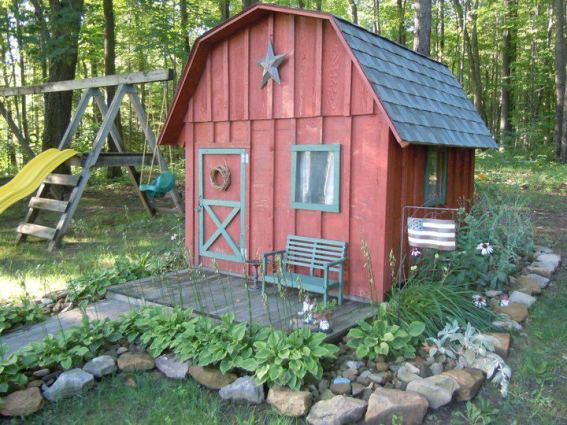 Christine Cross's playhouse, made for her granddaughter