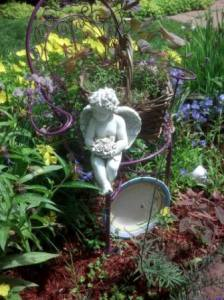 "Debbie Fogal says, ""This is my garden I have in memory of my Dad. liked purple."""