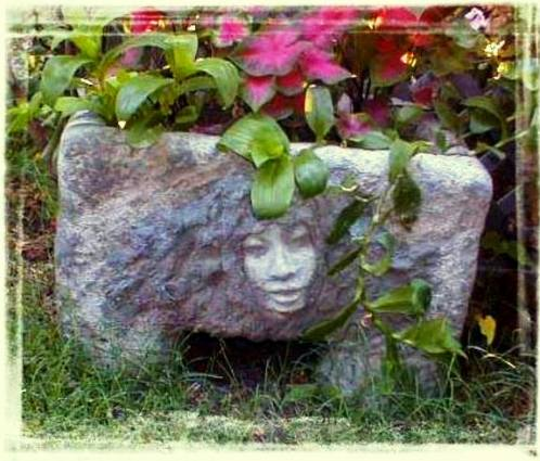 "Kandy Jones says, "" This hypertufa planter was made applying 'tufa to a Styrofoam ice chest."""