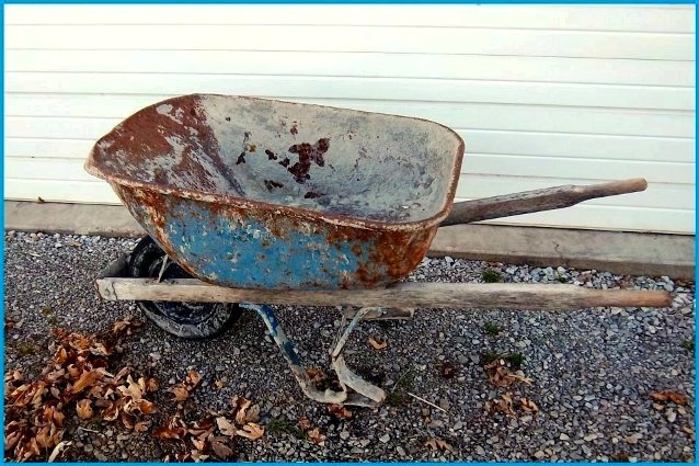 Nancy K. Meyer's 'perfectly blue' wheelbarrow
