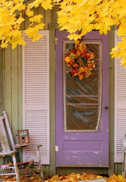 "Sue Karaso, ""Our old garden shed door."""