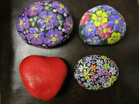 "Ardyth Wuori, ""I grow flowering rocks….people seem to love them so I just keep painting!"""