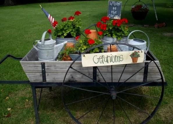 Debbie McMurry's summer themed flower cart