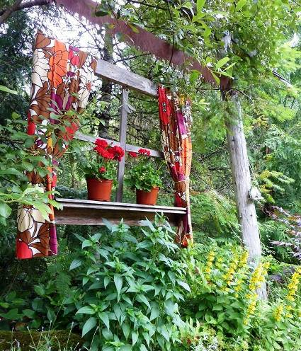 Linda's stunning window is hung with chain