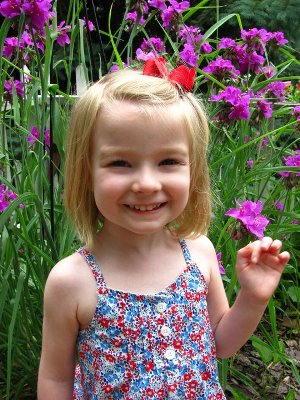 Nancy Anne Grigsby's granddaughter.  Hope for the future of gardening