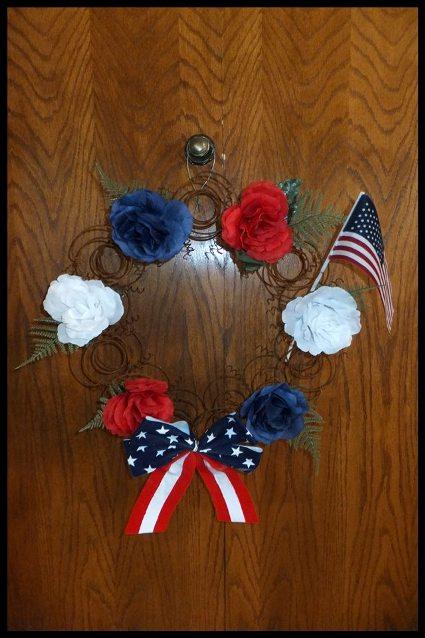 Nancy K Meyer's patriotic wreath