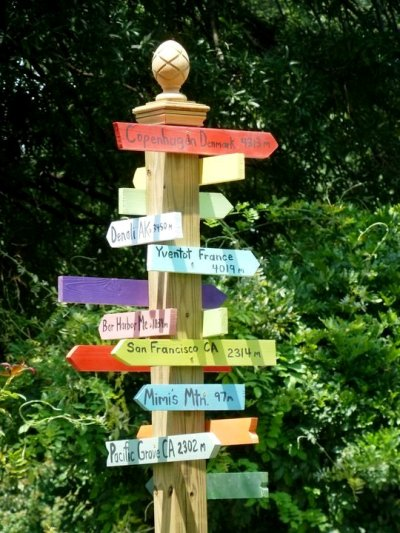 Directional Sign Posts For The Garden  Flea Market Gardening. Bluish Signs. Outfit Signs. Metastases Signs. Open Bar Signs. Homestuck Signs. Get Well Signs. Adrenal Fatigue Signs. Alternative Signs