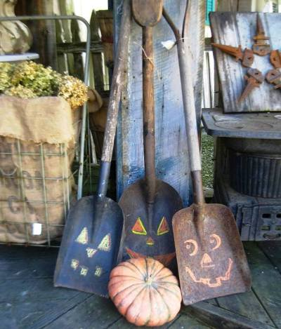 Collection of coal shovels