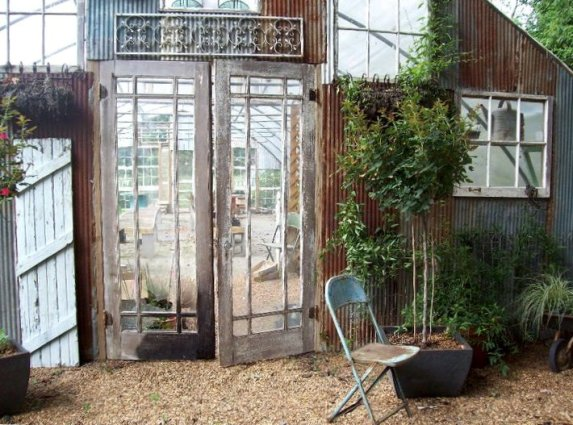 Entrance to the greenhouse