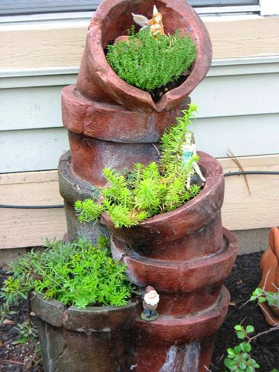 Jenny Alexander's recycled fountain is another starting place