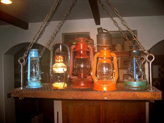 Lantern chandelier was designed with an old mining theme