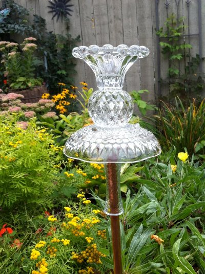 Ann Elias's glass garden ornament