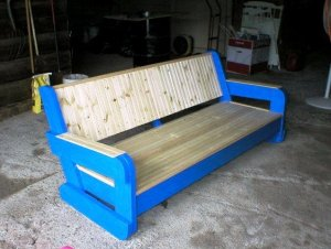 Mary Olson adds new wood seat and back