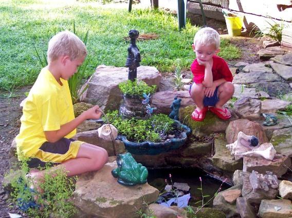 Cheryl York's pond pump