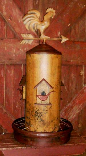Annie Grossart-Steen's primitive chicken feeder