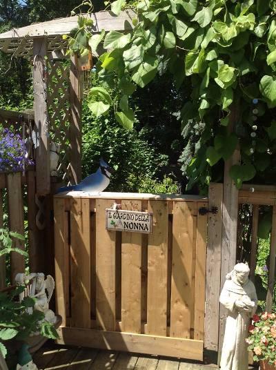 Rosemary O'Malley's inviting gate to Grandma's garden