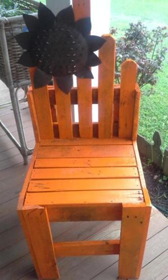 Sunny sunflower chair