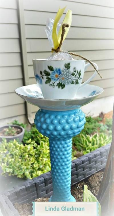 Linda's second finished teacup feeder