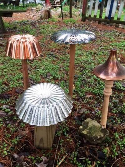Myra Glandon creative metal mushrooms