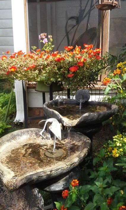 Water Play In The Garden With Flea Market Finds Flea