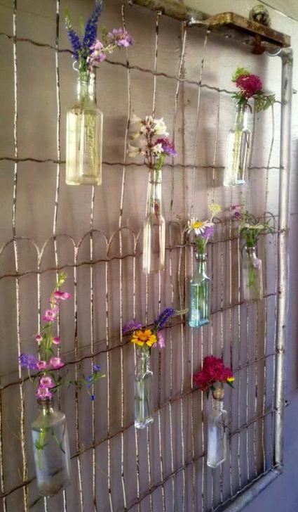 Christy Thomas made garden art from her vintage wire gate