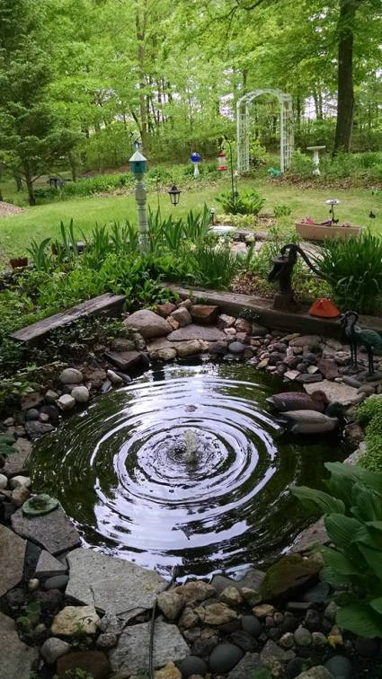 Margie Ann's composed round pond