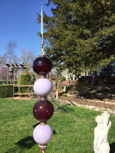 Lightning Rod Balls Totems For The Garden Flea Market