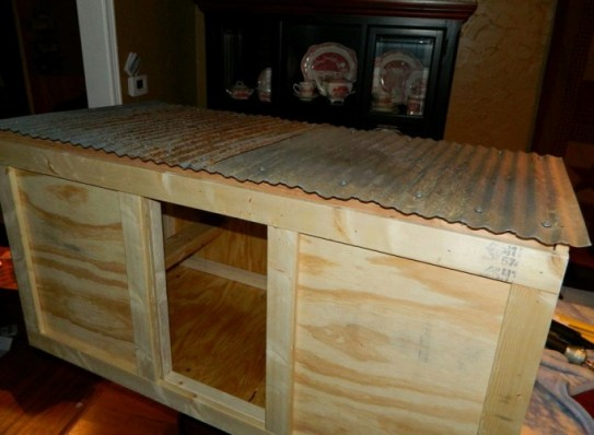 Dandi started with an old recycled cabinet