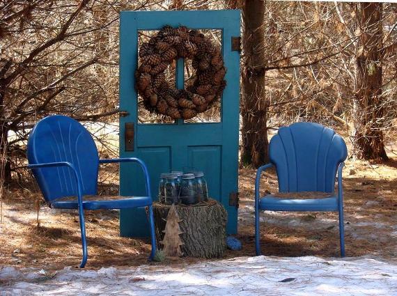 Jeanne Sammons's door creates an imaginary wall