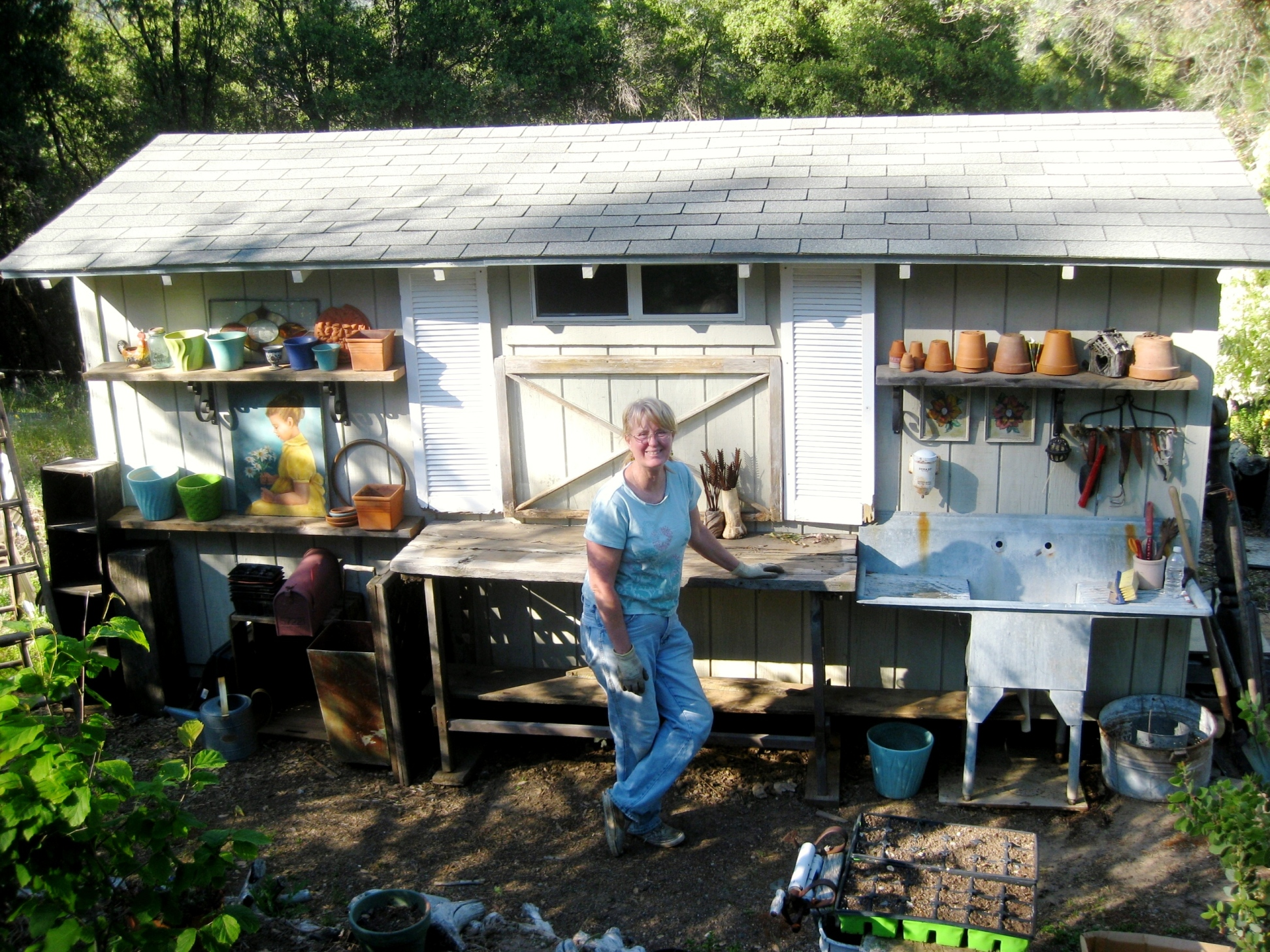 Sue Langley's Potting shed
