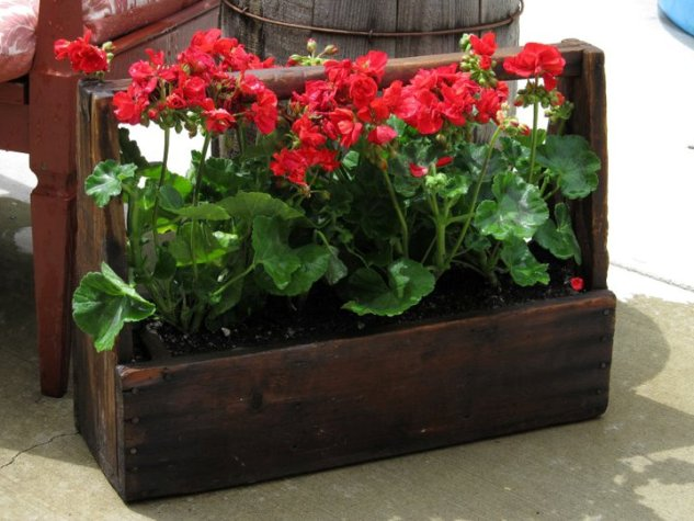 Kirk Willis's toolbox planter after